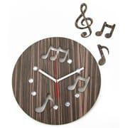 World Friendly World 12in Music in the Air Handmade Laser-Cut Espresso Wood Clock (WRFW044)