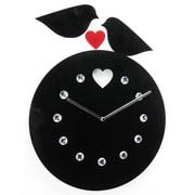 World Friendly World Handmade Acrylic Love Birds Clock with Rhinestone Jewels (WRFW008)