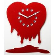 """World Friendly World """"You Melt My Heart"""" Handmade Laser-Cut Acrylic with Rhinestones Clock (WRFW011)"""