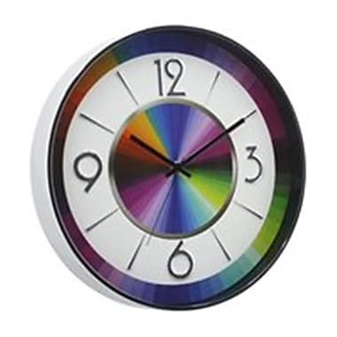 World Friendly World 13in Metal Rainbow Color Clock (WRFW061)