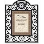 "Heartfelt 7"" x 9"" Timeless Treasure Matthew 28:19-20 ""Prayer for our Pastor"" Clock (ANCRD33915)"