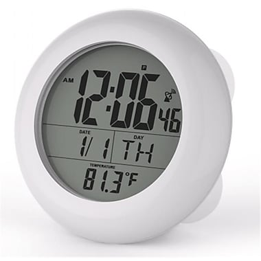 Sonnet Industries Suction Cup Atomic Clock with 1.5in Numbers and Stand (SNNT033)