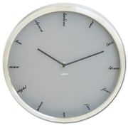 Ruda Overseas 12-Inch Wall Clock with Script Numbers (RDOV162)