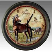 "American Expediton WCLK-110 American Mustang 17.125""L x 16.75""W x 2.75""H Wall Clock (ID454)"