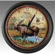 Ideaman American Expedition Bull Moose 16in Wall Clock (ID451)