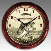 "American Expedition Signature Series Largemouth Bass 11.5"" diameter Round Clock (ID595)"