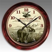 American Expedition Signature Series Clock, Moose (ID592)