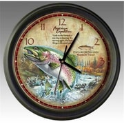 Ideaman American Expedition Rainbow Trout 16in Wall Clock (ID456)