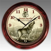 American Expedition Signature Series Clock, Gray Wolf (ID593)