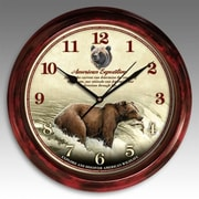 American Expedition Signature Series Grizzly Bear 11.5in Round Clock (IDNM697)