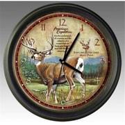 Ideaman American Expedition Mule Deer 16in Wall Clock (ID461)