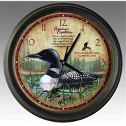 American Expediton WCLK,121 Common Loon 16,inch Wall Clock