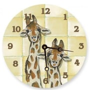 Lexington Studios Giraffes Round Clock (LXNGS282)