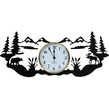 Village Wrought Iron Adirondack Wall Clock (VW101)