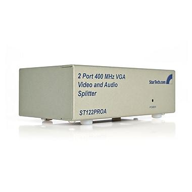 Startech.Com – Répartiteur vidéo VGA de haute résolution avec audio à 2 ports, 400 MHz