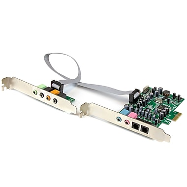 StarTech – Carte son 7.1 canaux, PCI Express, 24 bits, 192 kHz