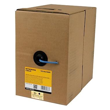 StarTech.com – Câble d'appoint UTP solide, rouleau de 500 pi, plénum Cmp Cat5E, bleu