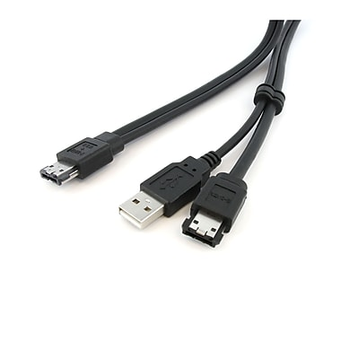 Startech.Com 3 Ft Esata And USB A to Power Esata Cable, M/M