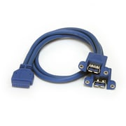 StarTech 2 Port Panel Mount USB 3.0 Cable, USB A to Motherboard Header Cable F/F
