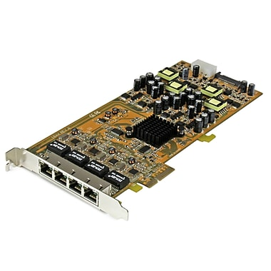 StarTech® 4 Port Gigabit Power Over Ethernet PCIE Network Card, Pse/Poe PCI Express Nic