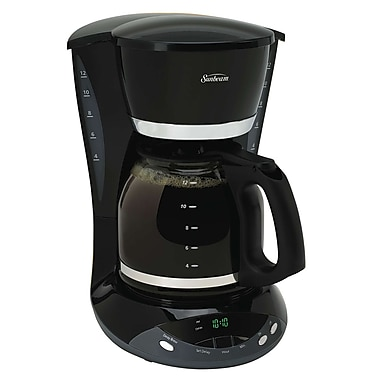 Sunbeam 12-Cup Programmable Coffeemaker with Dual Water Window, Black