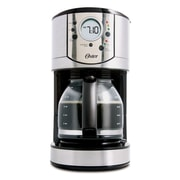 Oster 12 Cup Programmable Coffee Maker, Stainless Steel