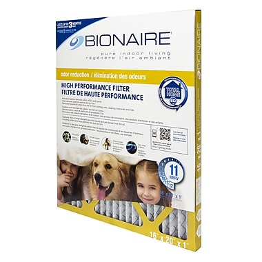 BionaireMD ® Filtre à fournaise anti-odeurs Merv 11, 16 x 20