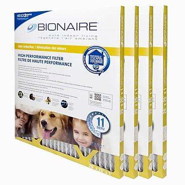 BionaireMD – Filtre à fournaise anti-odeurs Merv 11, 20 x 25, paquet de 4