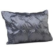 Rennie & Rose Design Group Button Boudoir Pillow; Silver