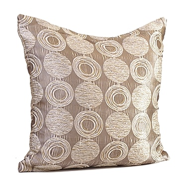 Rennie & Rose Design Group Cubism Circle Throw Pillow; 24'' H x 24'' W x 5'' D