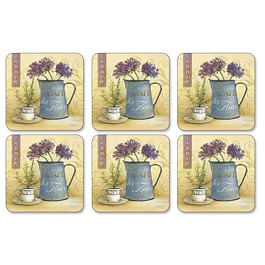 Pimpernel Caf de Fleurs Coaster (Set of 6)