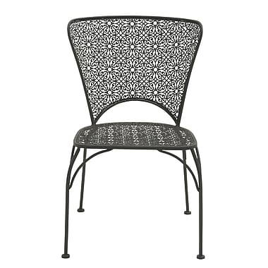 Cole & Grey Patio Dining Chair ; Black