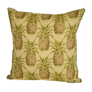 Rennie & Rose Design Group Coastal Pineapple Indoor/Outdoor Throw Pillow; 24'' H x 24'' W x 5'' D