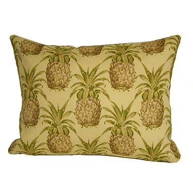 Rennie & Rose Design Group Coastal Pineapple Indoor/Outdoor Boudoir/Breakfast Pillow