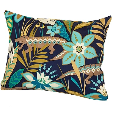 Rennie & Rose Design Group Glade Indoor/Outdoor Lumbar Pillow; Blue