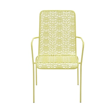 Cole & Grey Patio Dining Chair; Spring Green