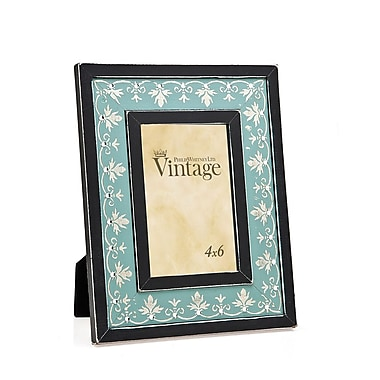Philip Whitney Leaf and Dimond Picture Frame; Light Blue