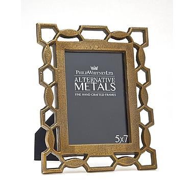 Philip Whitney Pierced Picture Frame; Brass