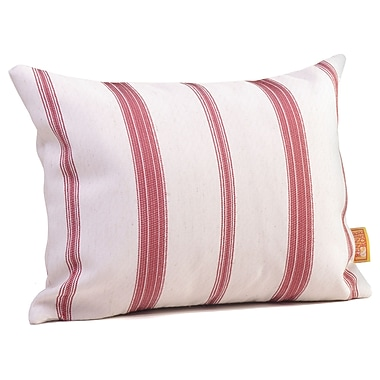 Rennie & Rose Design Group Hawthorne Stripe Lumbar Pillow; Cardinal