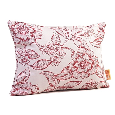 Rennie & Rose Design Group Hawthorne Floral Boudoir/Breakfast Pillow; Cardinal
