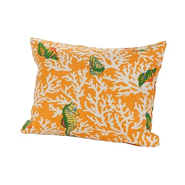 Rennie & Rose Design Group Kittery Indoor/Outdoor Lumbar Pillow; Orange