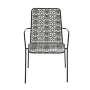 Cole & Grey Patio Dining Chair; Black