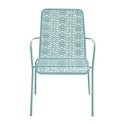 Cole & Grey Patio Dining Chair; Turquoise