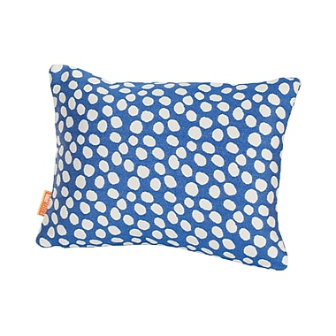 Rennie & Rose Design Group Coastal Pop Rocks Indoor/Outdoor Lumbar Pillow; Royal
