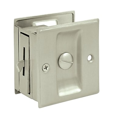 Deltana Privacy Pocket Lock; Brushed Nickel