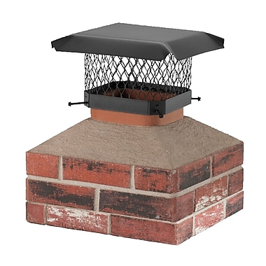 Shelter Shelter Galvanized Steel Chimney Cap; 7.75'' H x 13'' W x 9'' D