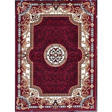 Persian-rugs Oriental Red Area Rug; Rectangle 5'2'' x 7'2''