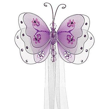 The Butterfly Grove Sasha Butterfly Curtain Tieback; Purple Wisteria