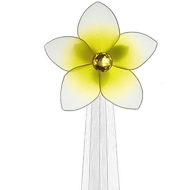 The Butterfly Grove Makena Flower Curtain Tieback; Yellow Daffodil