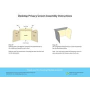 Flipside Products Desktop Study Carrel 3 Panel Desk Privacy Panel 19''H x 22''W (Set of 24); Large